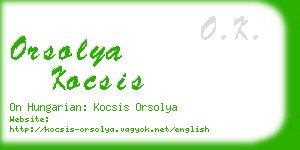 orsolya kocsis business card